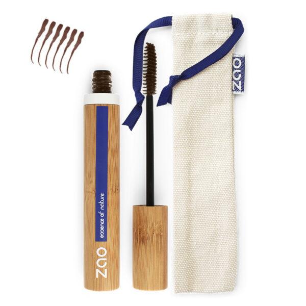 Ekologisk Strukturerande Mascara - Mörkbrun 091 från Zao - Ekobay Store