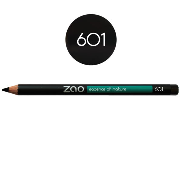 Ögonpenna Svart 601 för ögon och bryn från Zao - Ekobay Store