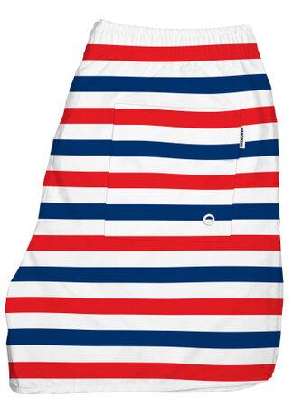 Badshorts i återvunnet material – Liberty Stripes – Dedicated brand