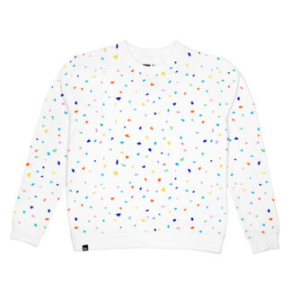 Tröja vit, Tjej – Malmoe Sweatshirt Confetti – Dedicated Brand