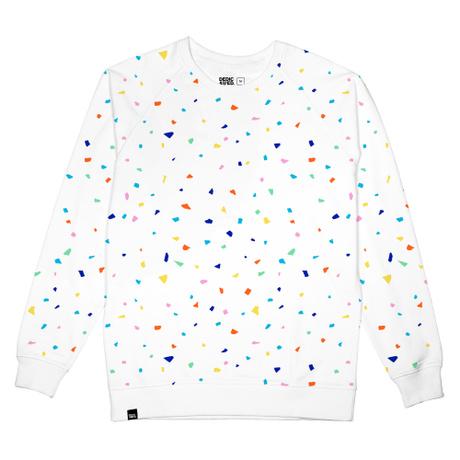 Tröja vit, Kille - Malmoe Sweatshirt Confetti – Dedicated Brand - Ekobay Store för en hållbar livsstil