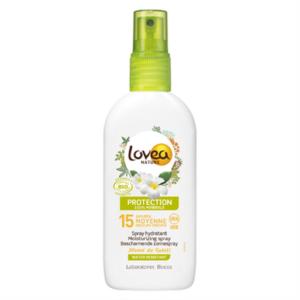Ekologisk Solskydd SPF15 - Sprayflaska från Lovea - Ekobay Store