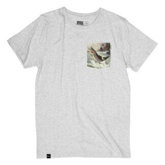 T-shirt Grå, kille - Stockholm T-shirt Pocket Salmon – Dedicated Brand - Ekobay Store - För en hållbar livsstil