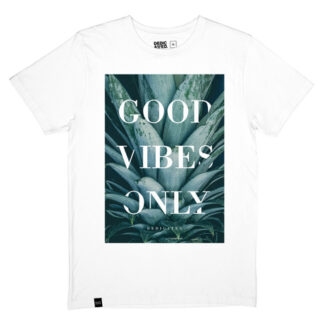T-shirt för kille, vit – Stockholm GVO Pineapple – Dedicated - Ekobay store