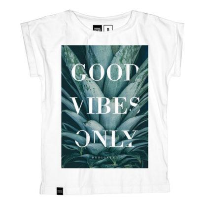 T-shirt för tjej, vit - Stockholm GVO Pineapple - Dedicated - Ekobay store för en hållbar livsstil