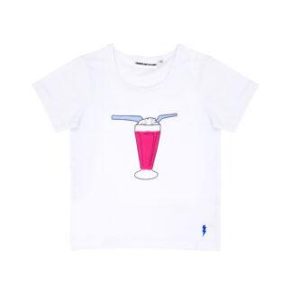 T-shirt vit The cool tee milkshake - Gardner and the gang - Ekobay store för en hållbar livsstil