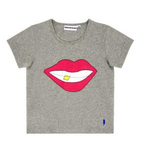T-shirt grå The cool tee smile - Gardner and the gang - Ekobay store för en hållbar livsstil