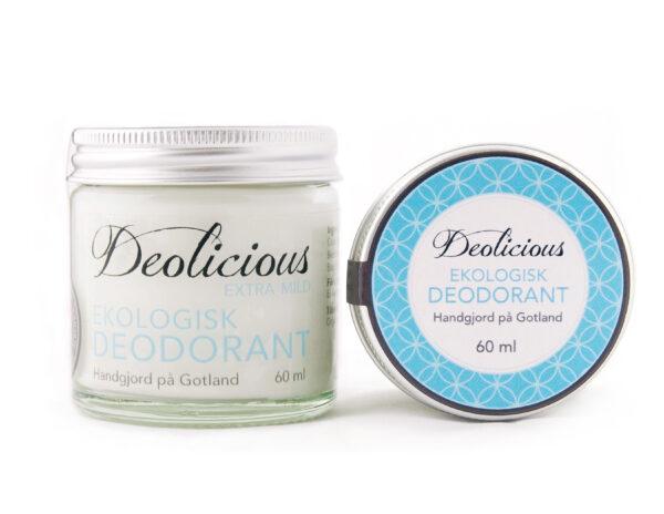 Ekologisk och giftfri deo - 60ml - Deolicious, Extra mild - Ekobay Store för en hållbar livsstil