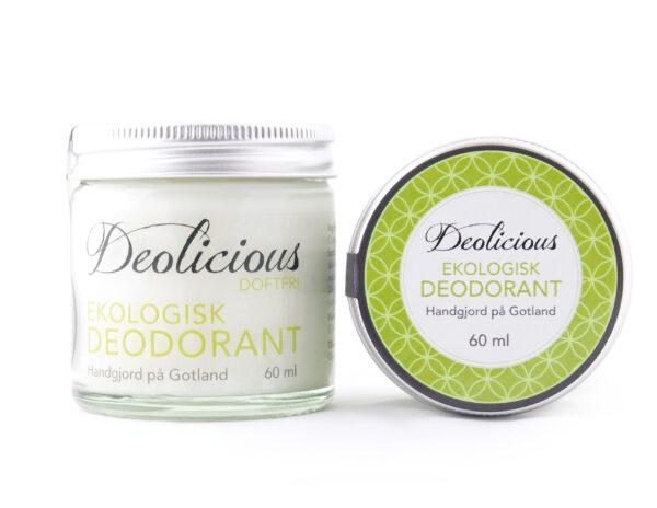 Ekologisk och giftfri deo – 60ml – Deolicious, Doft fri - Ekobay Store för en hållbar livsstil