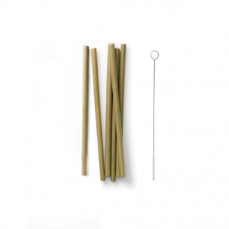 Miljövänliga Sugrör i bambu 6 pack - Bambu - Ekobay Store för en hållbar livsstil