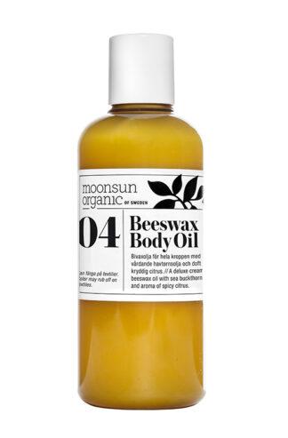 Ekologisk och mjukgörande Beeswax body Oil från Moonsun Organic - Ekobay Store