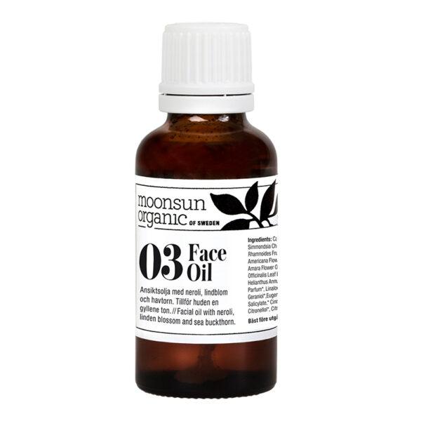 Ekologisk ansiktsolja havtorn/jojoba - Face oil från Moonsun Organic - Ekobay Store