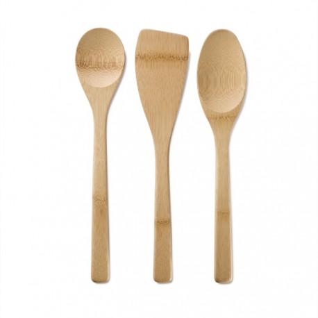 Ekologiska köksredskap i bambu 3 set - Bambu Ekobay Store för en hållbar livsstil