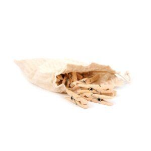 Klädnypor 24 st i trä - Iris hantverk - Ekobay Store för en hållbar livsstil