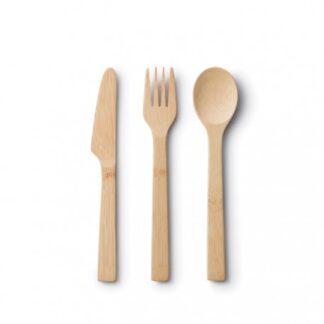 Bestick Kniv/gaffel/sked set ekologiskt - Bambu Ekobay store för en hållbar livsstil