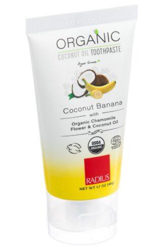 Ekologisk tandkräm för barn kokos/banan från Radius - Ekobay Store för en hållbar livsstil