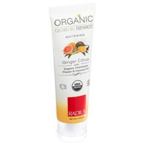 Ekologisk tandkräm Ginger (ingefära) Citrus från Radius - Ekobay store för en hållbar livsstil