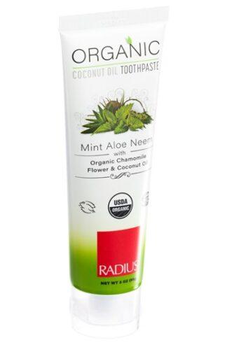Ekologisk tandkräm Mint Aloe Neem från Radius - Ekobay store för en hållbar livsstil