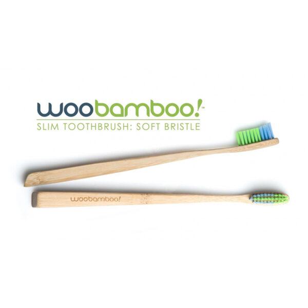 Ekologisk tandborste Slim Soft Vuxen från Woobamboo