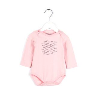Body lång ärm, Ljus rosa - Ekologiskt från Imps & Elfs - Ekobay store för en hållbar livsstil