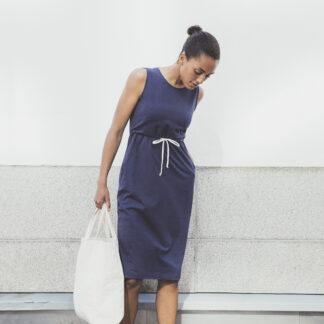 Blå klänning gravid/amning från Boob design