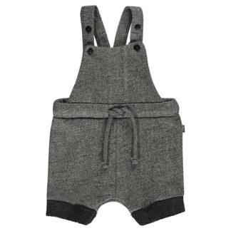 Shortsdress med hängslen - Mörgrå/melerad från Imps & Elfs