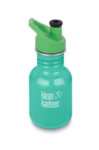 Miljövänlig vattenflaska barn 355ml med sportkork - Turkos- Klean Kanteen