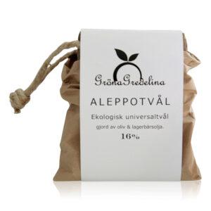Ekologisk Aleppotvål 16% fast - Gröna gredelina - Ekobay Store för en hållbar livsstil