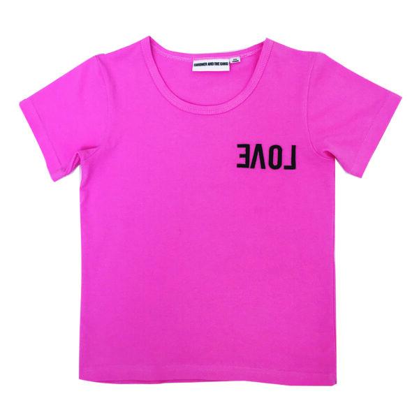 T-shirt rosa - REVERSE LOVE - Gardner and the Gang