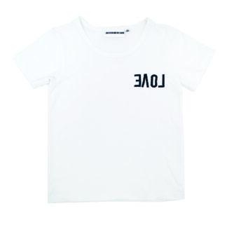 T-shirt vit - REVERSE LOVE - Gardner and the Gang