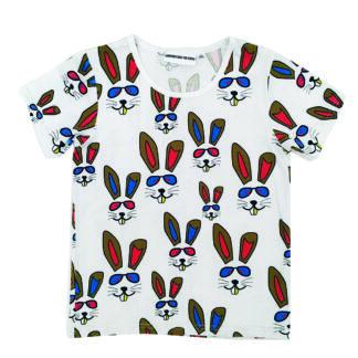 T-shirt vit - BENNY BUNNY - Gardner and the Gang