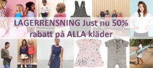 rea 50% på alla kläder