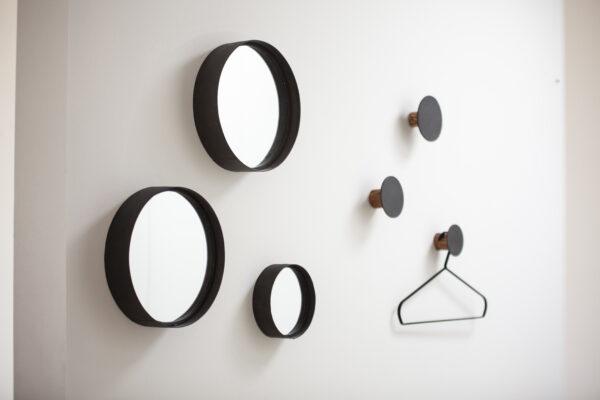 Miljövänliga Speglar svart - 2 set - OOhh collection